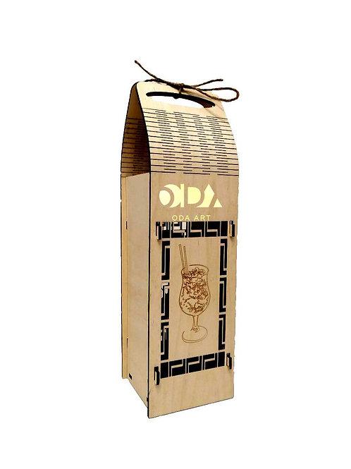 "Подарочная коробка для бутылки ""Коктейль"""