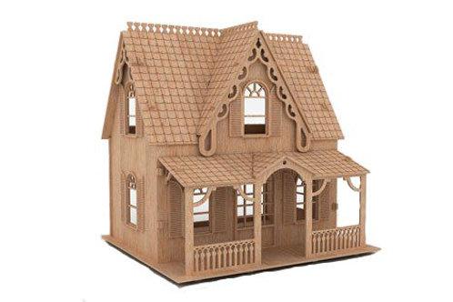 """Кукольный домик """"Резной с мансардной крышей"""""""