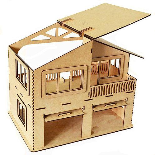 """Кукольный домик """"2 этажа 2 гаража"""""""