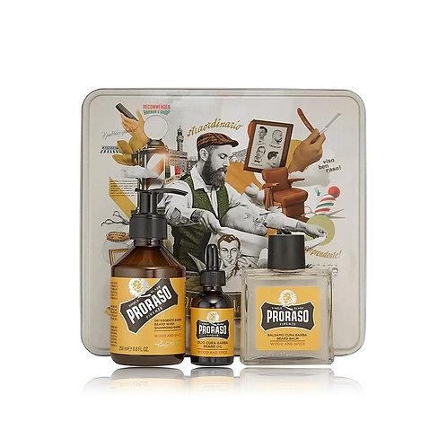 Proraso Metal Box Beard Care - Wood & Spice