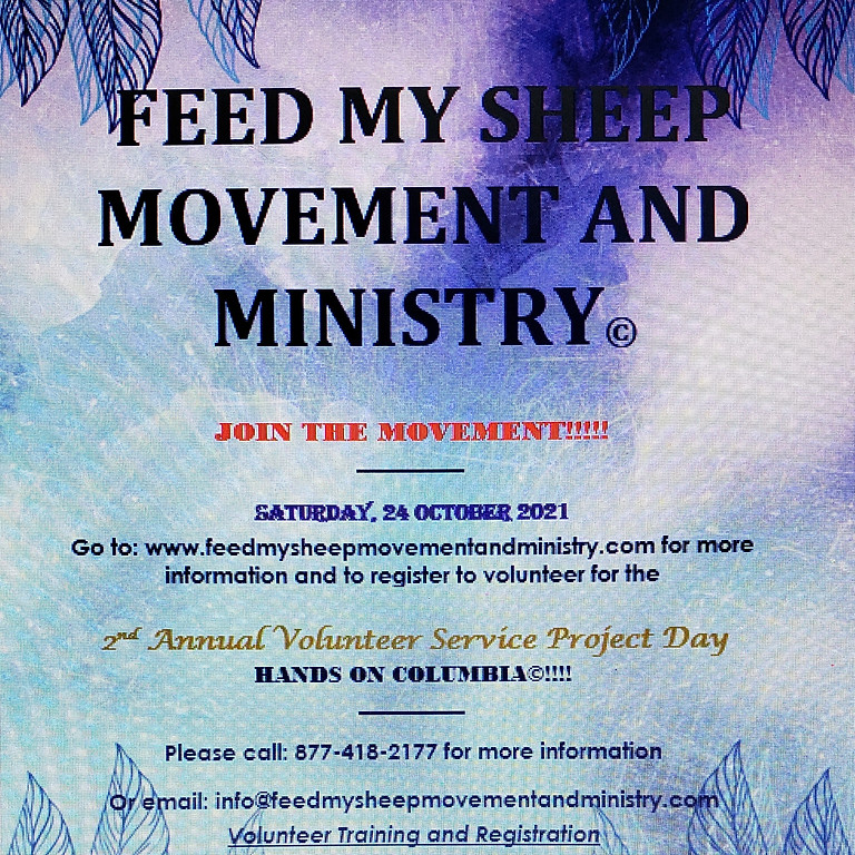 2nd Annual Feed My Sheep Movement and Ministry Hands on Columbia Service Project Day!