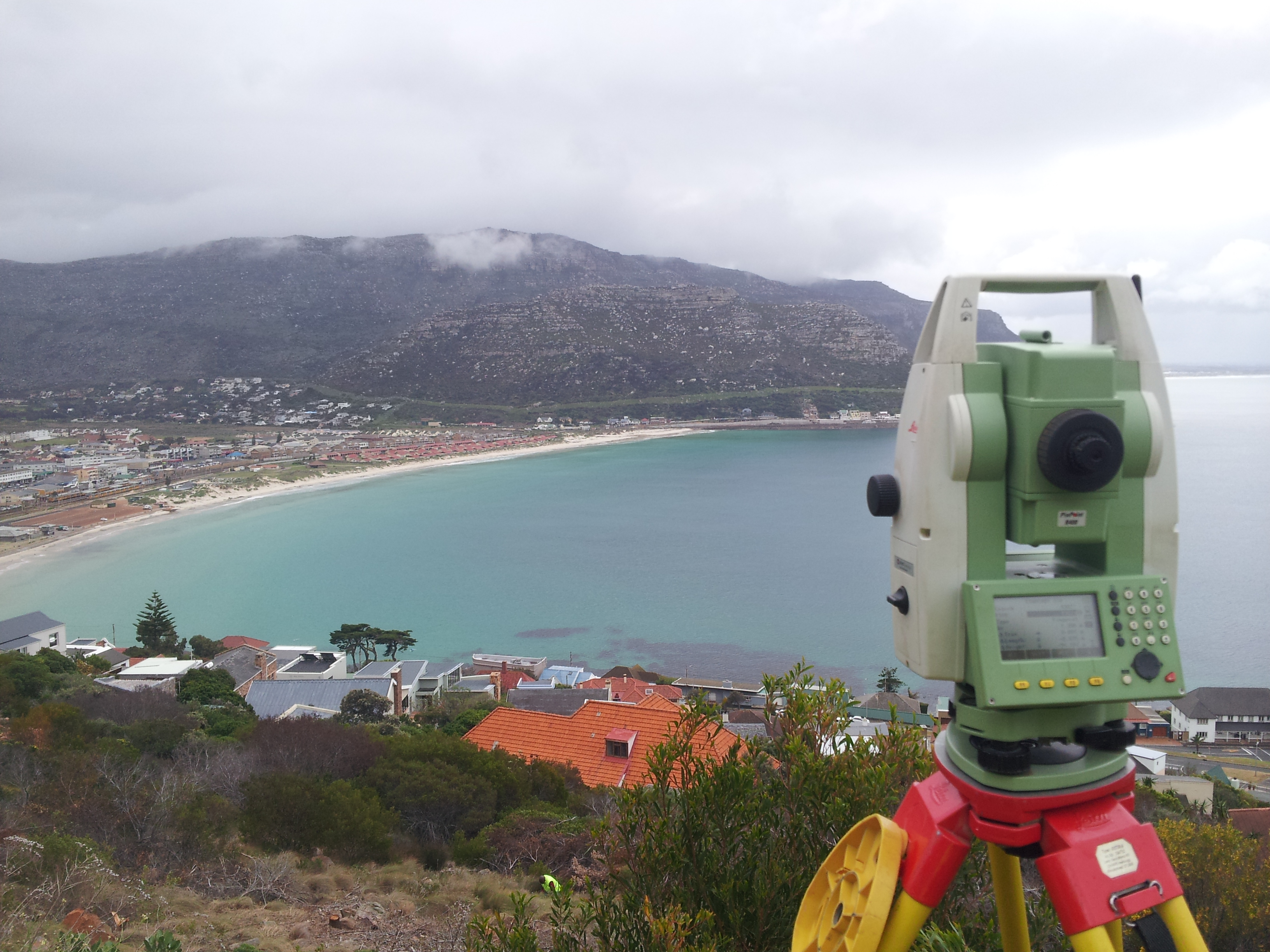 Surveying on Fish Hoek Mountain side