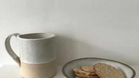 White Stoneware Mug - MADE TO ORDER