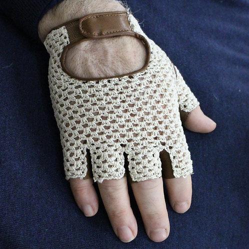 Guanto da Guida Mezze Dita in Crochet e Cotone