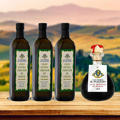 3xExtra Virgin Olive Oil 750ml + 1xBalsamic Vinegar