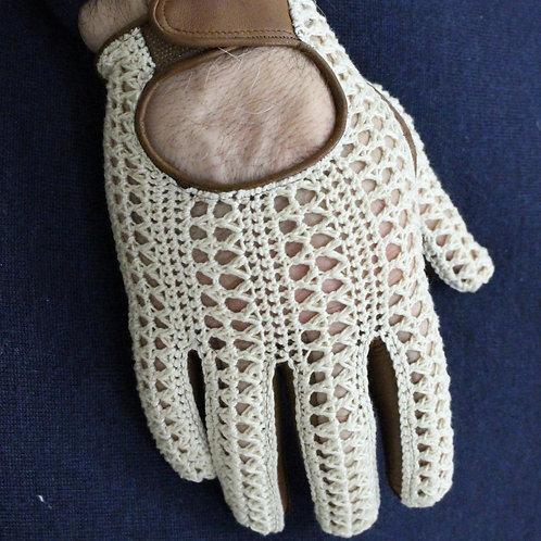 Guanto da Guida con Dita in Crochet e Pelle