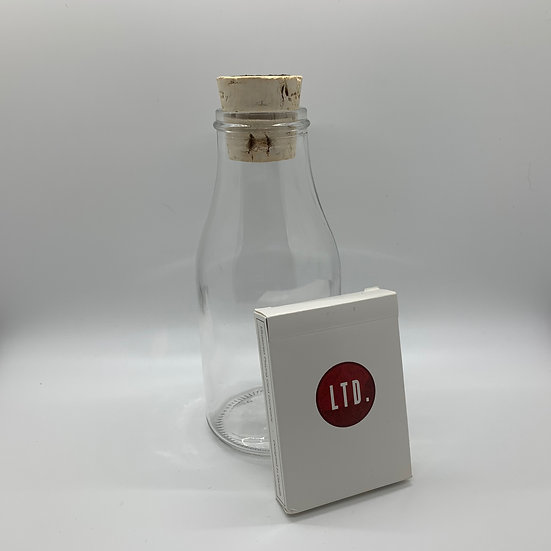 Impossible Bottle of White LTD Playing Cards with Cellophane