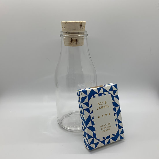 Impossible Bottle of 5th and Laurel Playing Cards with Cellophane