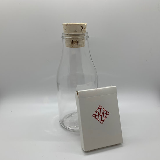 Impossible Bottle of Red Revolvers Playing Cards with Cellophane