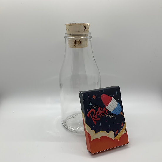 Impossible Bottle of Rockets Playing Cards with Cellophane
