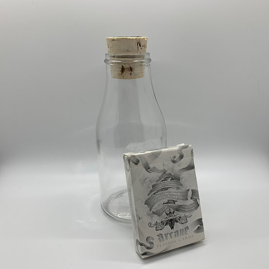 Impossible Bottle of White Arcane Playing Cards with Cellophane