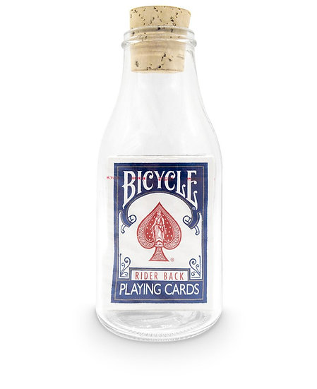 Impossible Bottle of Blue Riderback Playing Cards with Cellophane