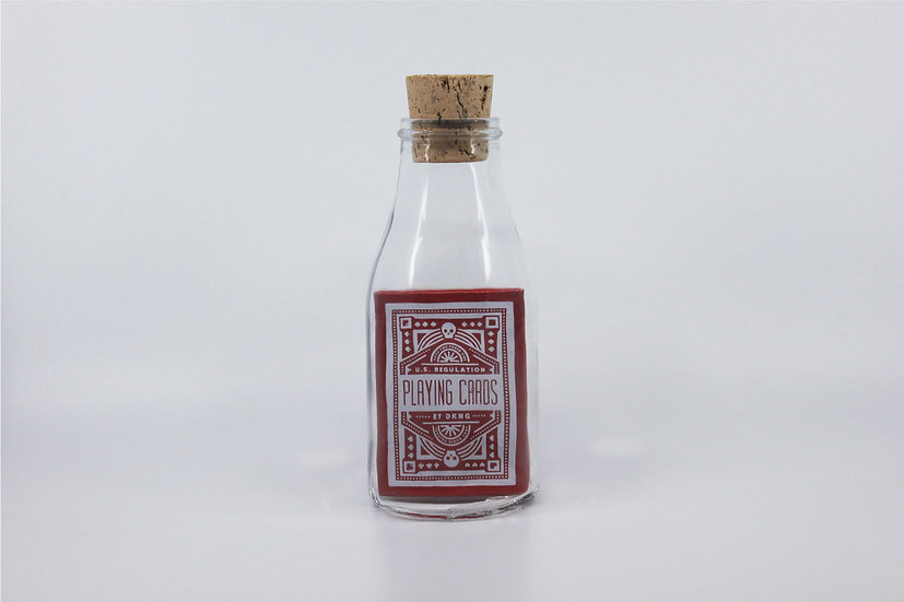 Impossible Bottle of Red Wheel DKNG Playing Cards with Cellophane