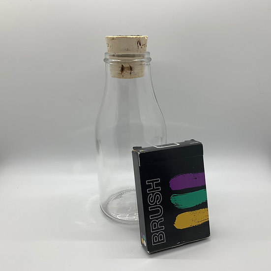 Impossible Bottle of Brush Playing Cards with Cellophane
