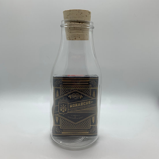 Impossible Bottle of Blue Monarch Playing Cards with Cellophane