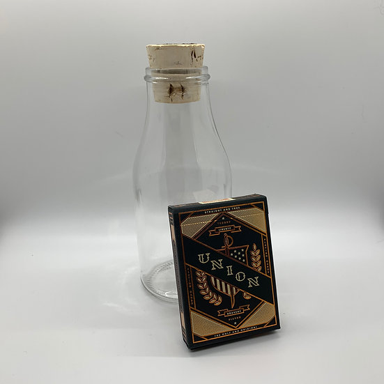 Impossible Bottle of Union Playing Cards with Cellophane