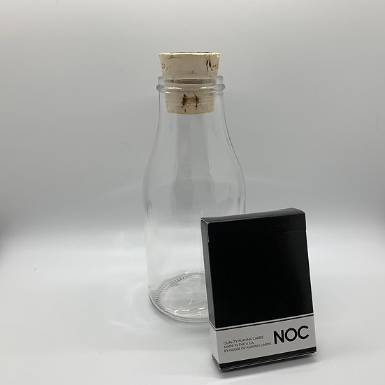 Impossible Bottle of Black NOC Playing Cards with Cellophane