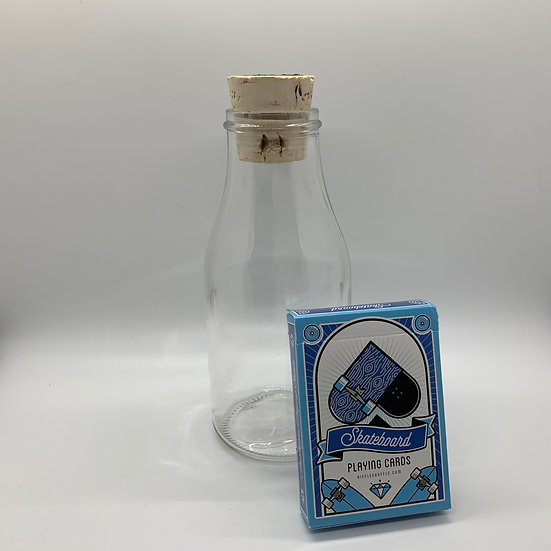 Impossible Bottle of Skateboards Playing Cards with Cellophane