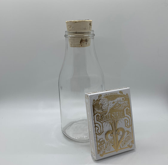 Impossible Bottle of Gold Split Spades Playing Cards with Cellophane