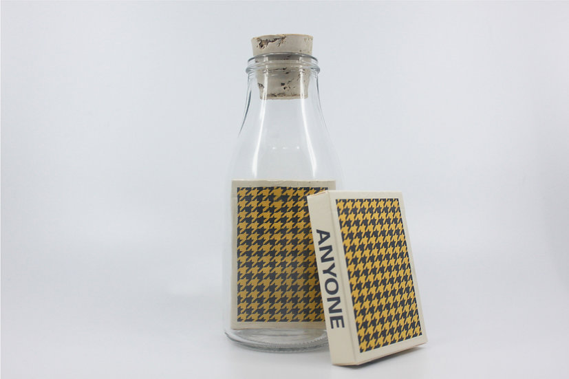Impossible Bottle of Houndstooth Playing Cards with Cellophane