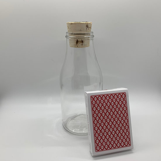 Impossible Bottle of White Lions Tour Red Reverse Playing Cards with Cellophane