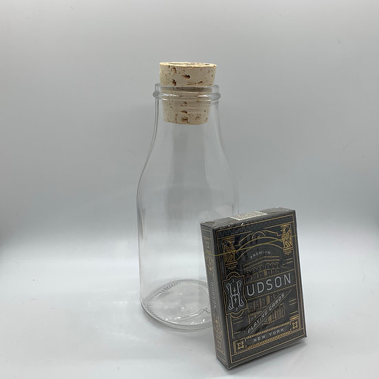 Impossible Bottle of Black Hudson Playing Cards with Cellophane