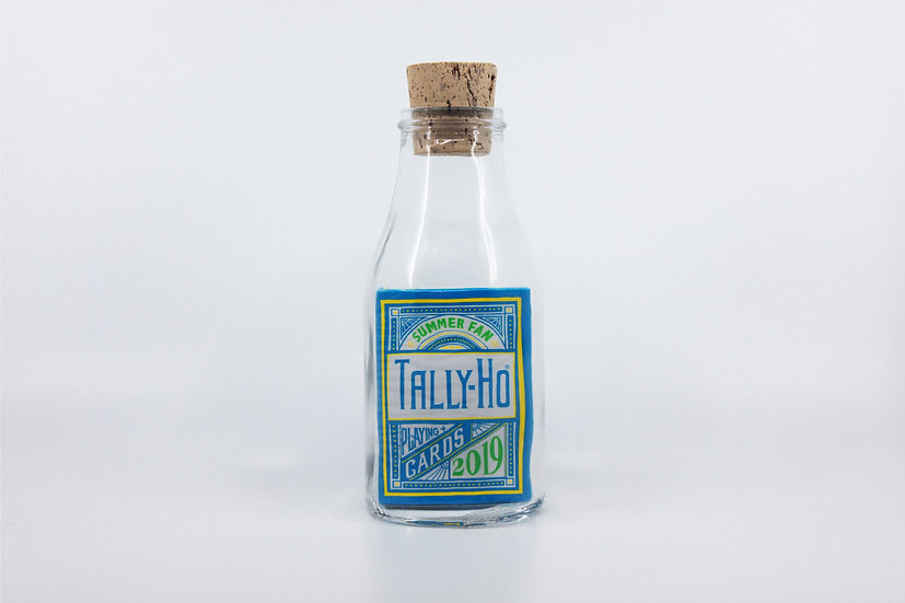 Impossible Bottle of Tally-Ho Summer Fan Back 2019 Playing Cards with Cellophane