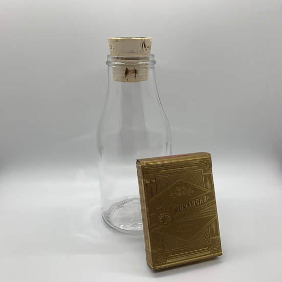 Impossible Bottle of Gold Monarchs Playing Cards with Cellophane