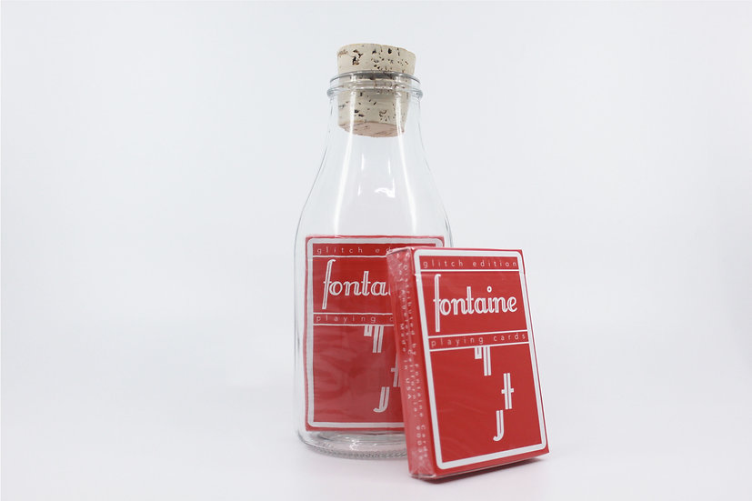 Impossible Bottle of Glitch Fontaine Future Playing Cards with Cellophan