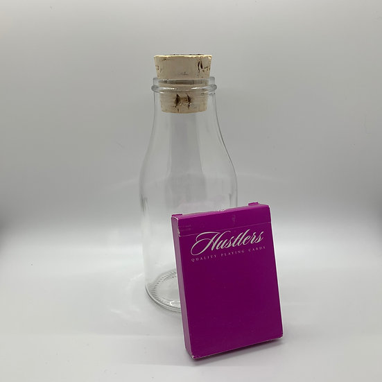 Impossible Bottle of Purple Hustlers Playing Cards with Cellophane