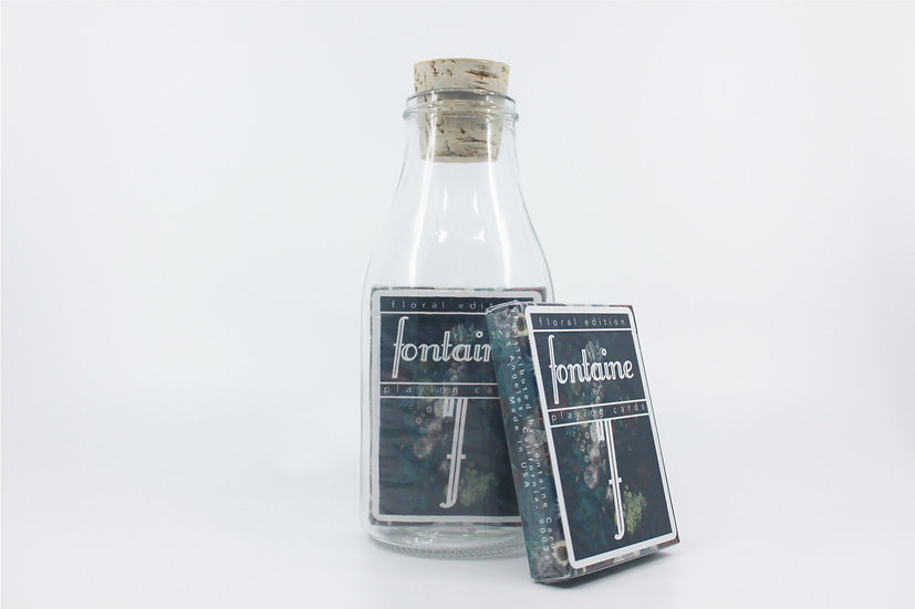 Impossible Bottle of Floral Fontaine Future Playing Cards with Cellophan
