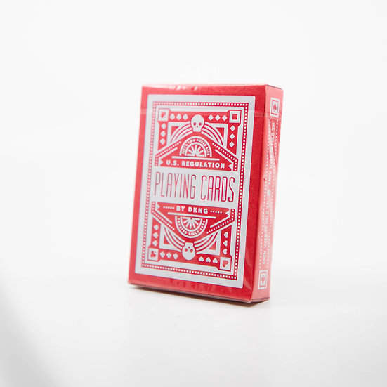 Red Wheel DKNG Playing Cards