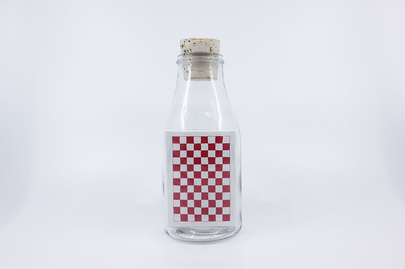 Impossible Bottle of Red Checkerboards Playing Cards with Cellophane