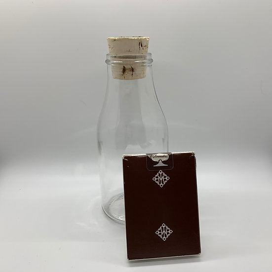 Impossible Bottle of Brown Rounders Playing Cards with Cellophane