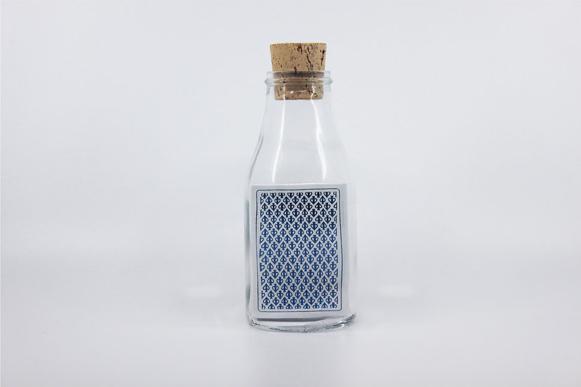 Impossible Bottle of Black Lions Blue Playing Cards with Cellophane