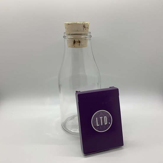 Impossible Bottle of Purple LTD Playing Cards with Cellophane