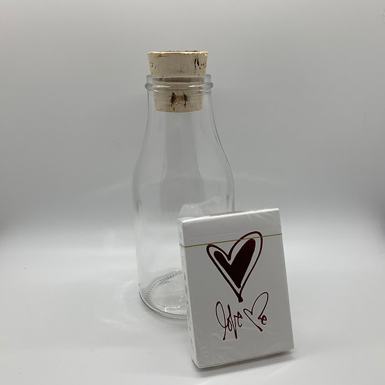 Impossible Bottle of Love Me Playing Cards with Cellophane