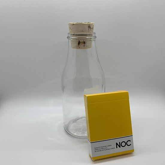 Impossible Bottle of Yellow NOC Playing Cards with Cellophane
