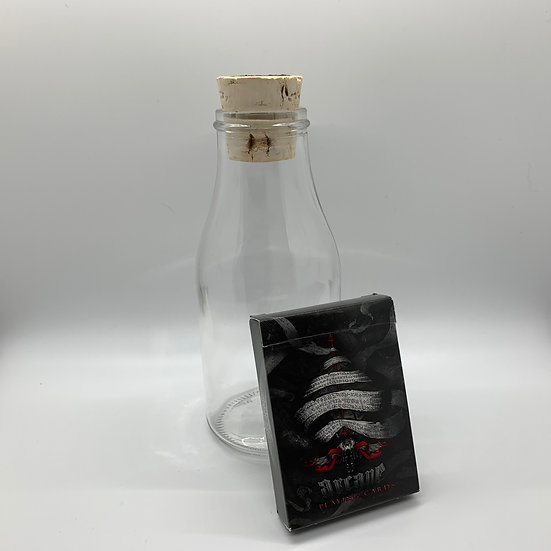 Impossible Bottle of Red Arcane Playing Cards with Cellophane