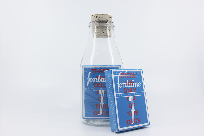 Impossible Bottle of 500 Fontaine Future Playing Cards with Cellophan