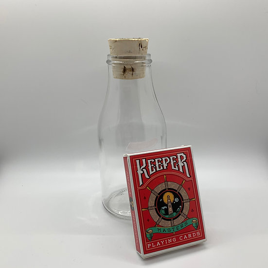 Impossible Bottle of Red Keepers Playing Cards with Cellophane