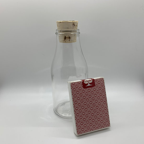 Impossible Bottle of Madison Scarlet Dealers Playing Cards with Cellophane