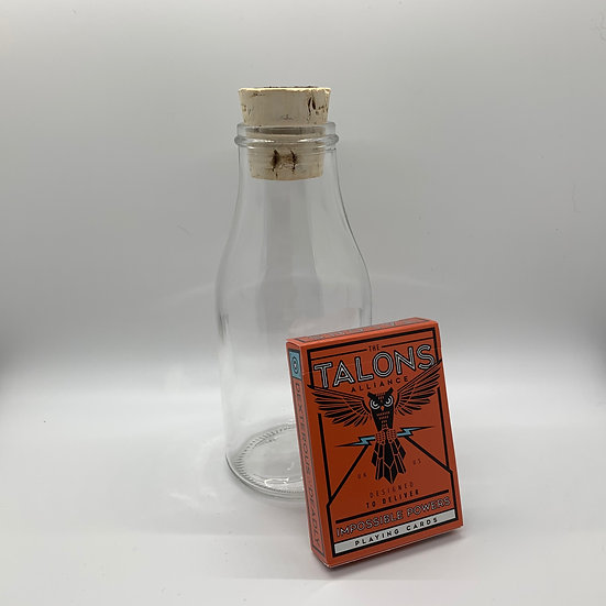 Impossible Bottle of Talons Playing Cards with Cellophane