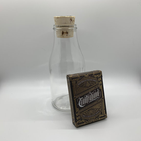 Impossible Bottle of Contraband Playing Cards with Cellophane