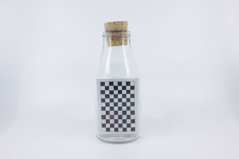 Impossible Bottle of Black Checkerboard Playing Cards with Cellophane
