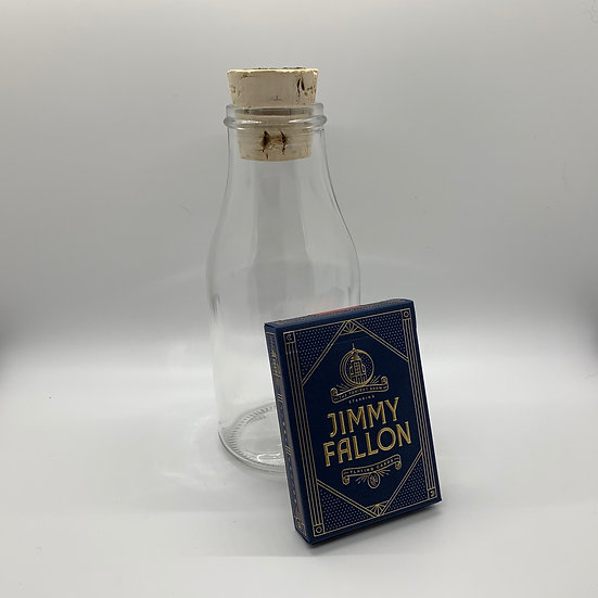 Impossible Bottle of Jimmy Fallon Playing Cards with Cellophane