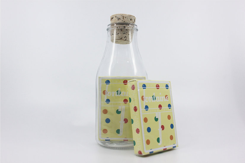 Impossible Bottle of Polka Fontaine Future Playing Cards with Cellophan