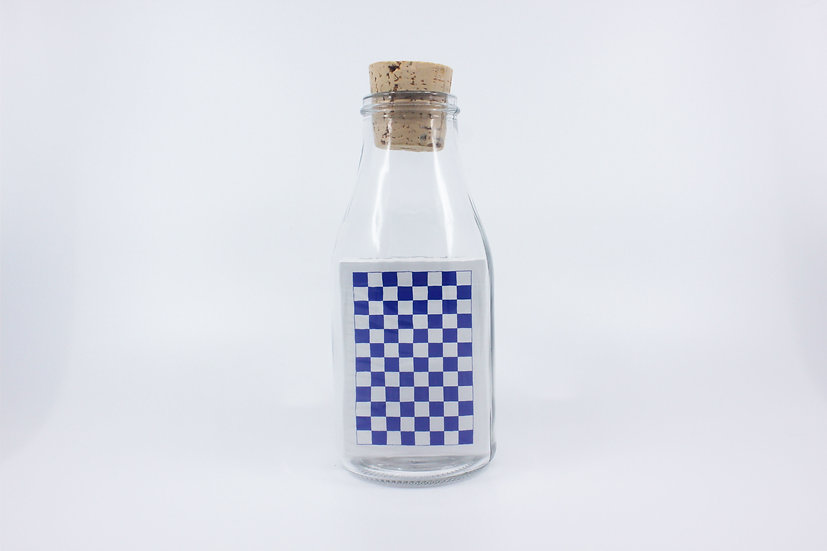 Impossible Bottle of Blue Checkerboard Playing Cards with Cellophane