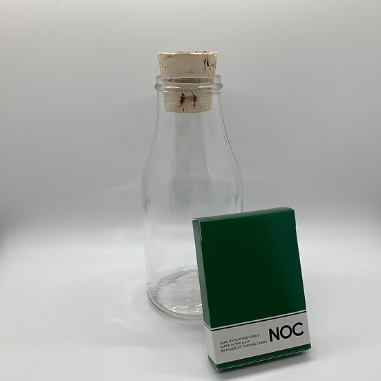 Impossible Bottle of Green NOC Playing Cards with Cellophane