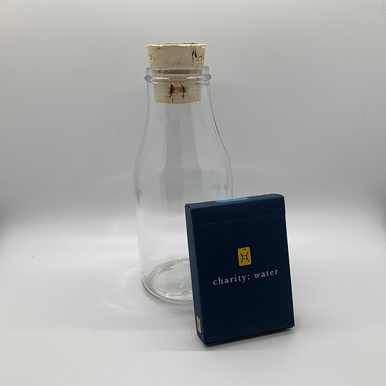 Impossible Bottle of Charity Water Playing Cards with Cellophane